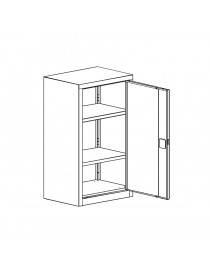 Dwu-drzwiowa szafa ubraniowa dla przedszkolaków SumS 320p st. Wymiary w mm (wys x szer x gł): 1350 x 600 x 500