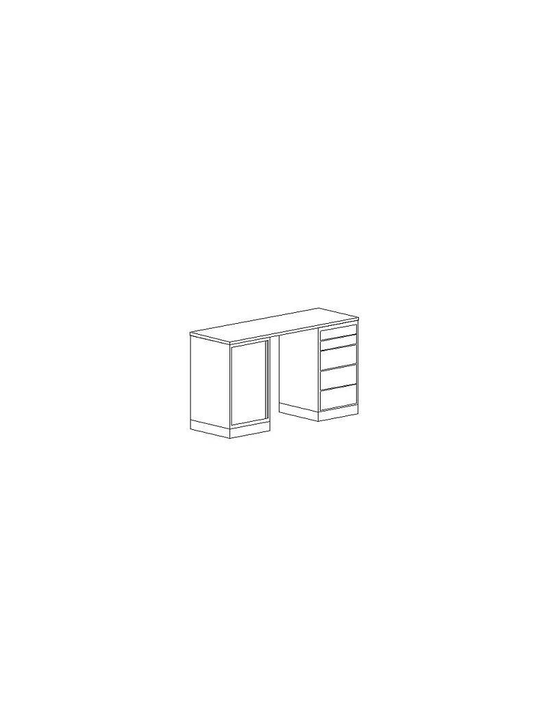 Szafa aktowo-ubraniowa bez zamka ECHO EC52. Wymiary w mm (szer x gł x wys): 802 x 385 x 1833