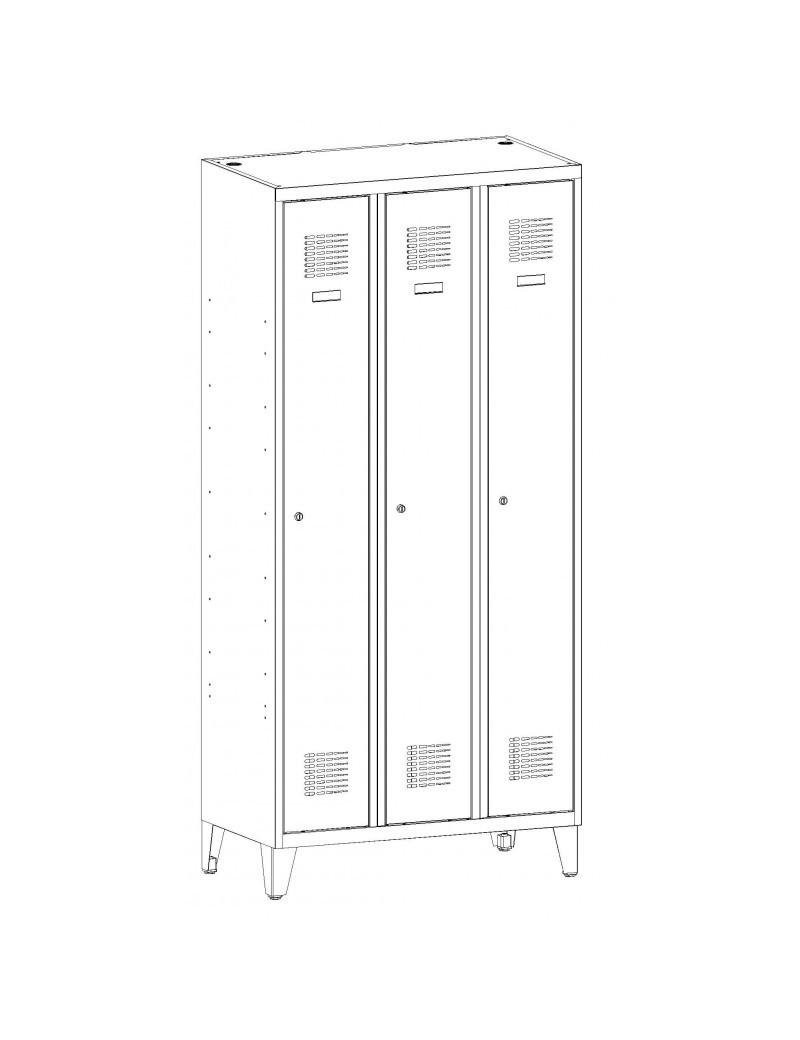 Szafa biurowa metalowa SBM 101 - 2 półki. Wymiary ( wys x szer x gł ) : 1040 x 600 x 435