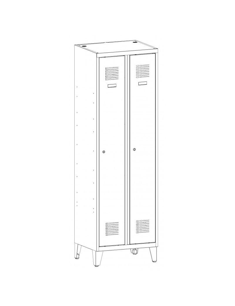 Szafa aktowa z drzwiami chowanymi SBM 211 ze schowkiem. Wymiary ( wys x szer x gł ) : 1990 x 1000 x 435