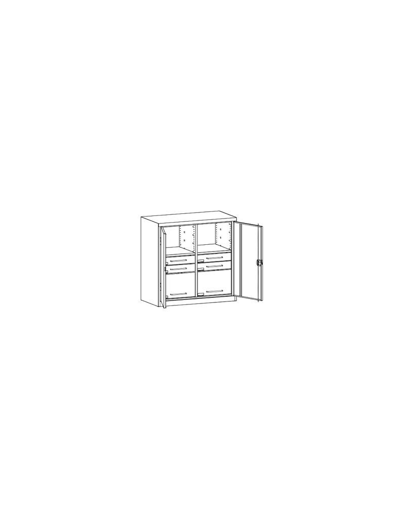Stół biurowy Stb 1080. Wymiary w mm (wys x szer x gł): 745-770 x 1000 x 800