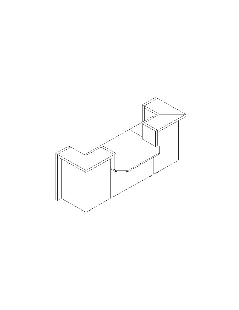 Biurko VBM076 z kontenerkiem. Szerokość 1600 mm, głębokość 700 mm