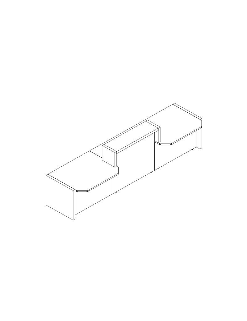 Biurko BH073 z kontenerkiem. Szerokość 1370 mm, głębokość 700 mm