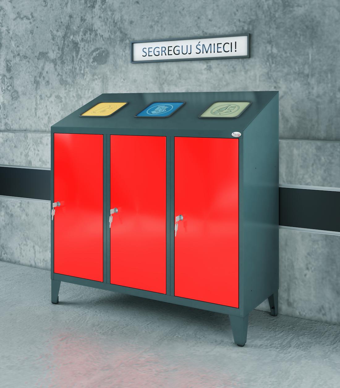 Meble socjalne, szafy socjalne, kosze na śmieci, szafy metalowe, meble metalowe