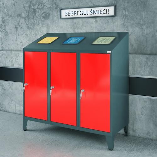 Pojemniki do sortowania odpadów