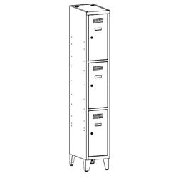 Szafa socjalna, szafa do szatni, szafa metalowa, meble metalowe, szafy metalowe, SUS 313 W st na nóżkach