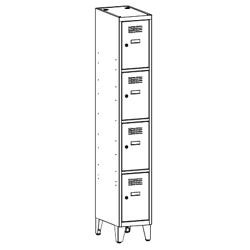 Szafa socjalna, szafa do szatni, szafa metalowa, meble metalowe, szafy metalowe, SUS 314 W st na nóżkach