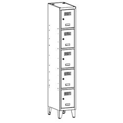 Szafa socjalna, szafa do szatni, szafa metalowa, meble metalowe, szafy metalowe, SUS 315 W st na nóżkach
