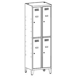 Szafa skrytkowa, szafa socjalna, szafa do szatni, szafa metalowa SUS 322 W st na nóżkach, meble metalowe, szafy metalowe