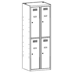 Szafa skrytkowa, szafa socjalna, szafa do szatni SUS 322 W st, szafa metalowa, meble metalowe