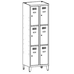 Szafa socjalna, szafa do szatni, szafa metalowa, meble metalowe, szafy metalowe, SUS 323 W st na nóżkach
