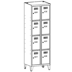 Szafa socjalna, szafa do szatni, szafa metalowa, meble metalowe, szafy metalowe, SUS 324 W st na nóżkach