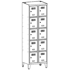 Szafa socjalna, szafa do szatni, szafa metalowa, meble metalowe, szafy metalowe, SUS 325 W st na nóżkach