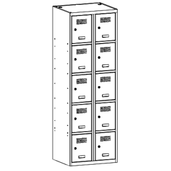 Szafa socjalna, szafa do szatni, szafa metalowa, meble metalowe, szafy metalowe, SUS 325 W st