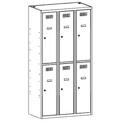 Szafa socjalna, szafa do szatni, szafa metalowa SUS 332 W st, szafy metalowe, meble metalowe