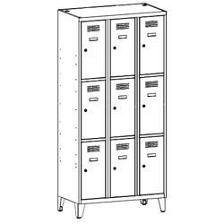 Szafa socjalna, szafa do szatni, szafa metalowa, meble metalowe, szafy metalowe, SUS 333 W st na nóżkach