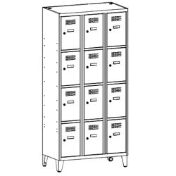 Szafa socjalna, szafa do szatni, szafa metalowa, meble metalowe, szafy metalowe, SUS 334 W st na nóżkach