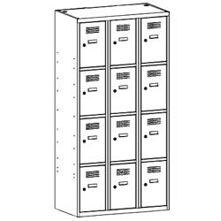 Szafa socjalna, szafa do szatni, szafa metalowa, meble metalowe, szafy metalowe, SUS 334 W st