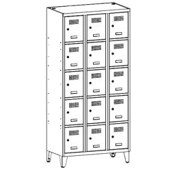 Szafa socjalna, szafa do szatni, szafa metalowa, meble metalowe, szafy metalowe, SUS 335 W st na nóżkach