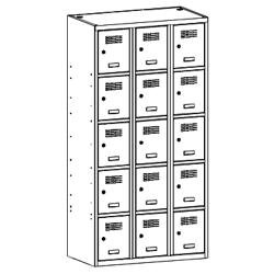 Szafa socjalna, szafa do szatni, szafa metalowa, meble metalowe, szafy metalowe, SUS 335 W st