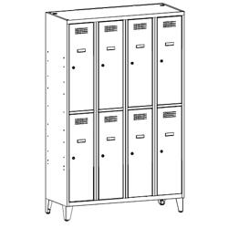 Szafa socjalna, szafa do szatni, szafa metalowa, meble metalowe, szafy metalowe, SUS 342 W st na nóżkach