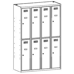 Szafa socjalna, szafa do szatni, szafa metalowa, meble metalowe, szafy metalowe, SUS 342 W st
