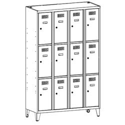 Szafa socjalna, szafa do szatni, szafa metalowa, meble metalowe, szafy metalowe, SUS 343 W st na nóżkach