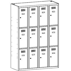 Szafa socjalna, szafa do szatni, szafa metalowa, meble metalowe, szafy metalowe, SUS 343 W st