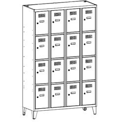 Szafa socjalna, szafa do szatni, szafa metalowa, meble metalowe, szafy metalowe, SUS 344 W st na nóżkach