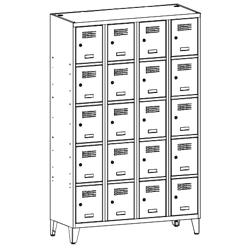 Szafa socjalna, szafa do szatni, szafa metalowa, meble metalowe, szafy metalowe, SUS 345 W st na nóżkach