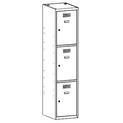 Szafa socjalna, szafa do szatni, szafa metalowa, meble metalowe, szafy metalowe, SUS 413 W st