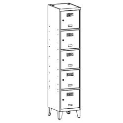 Szafa socjalna, szafa do szatni, szafa metalowa, meble metalowe, szafy metalowe, SUS 415 W st na nóżkach