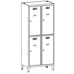Szafa skrytkowa, szafa socjalna, szafa do szatni, szafa metalowa SUS 422 W st na nóżkach, meble metalowe, szafy metalowe