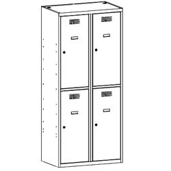 Szafa skrytkowa, szafa socjalna, szafa do szatni SUS 422 W st, szafa metalowa, meble metalowe