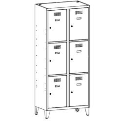 Szafa socjalna, szafa do szatni, szafa metalowa, meble metalowe, szafy metalowe, SUS 423 W st na nóżkach