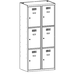 Szafa socjalna, szafa do szatni, szafa metalowa, meble metalowe, szafy metalowe, SUS 423 W st