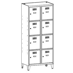 Szafa socjalna, szafa do szatni, szafa metalowa, meble metalowe, szafy metalowe, SUS 424 W st na nóżkach