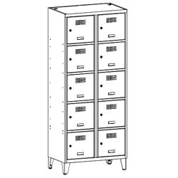 Szafa socjalna, szafa do szatni, szafa metalowa, meble metalowe, szafy metalowe, SUS 425 W st na nóżkach