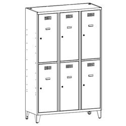 Szafa socjalna, szafa do szatni, szafa metalowa, meble metalowe, szafy metalowe SUS 432 W st na nóżkach
