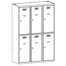 Szafa socjalna, szafa do szatni, szafa metalowa SUS 432 W st, szafy metalowe, meble metalowe