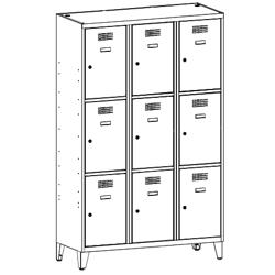 Szafa socjalna, szafa do szatni, szafa metalowa, meble metalowe, szafy metalowe, SUS 433 W st na nóżkach