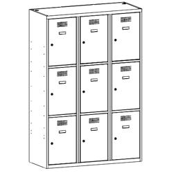 Szafa socjalna, szafa do szatni, szafa metalowa, meble metalowe, szafy metalowe, SUS 433 W st