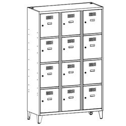 Szafa socjalna, szafa do szatni, szafa metalowa, meble metalowe, szafy metalowe, SUS 434 W st na nóżkach