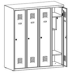 Szafa ubraniowa, szafa metalowa, meble metalowe, szafy metalowe, SumS 340p st
