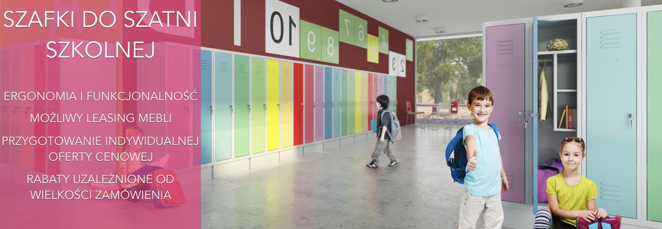 Szafy szkolne, szafy do szatni szkolnej, szafy metalowe