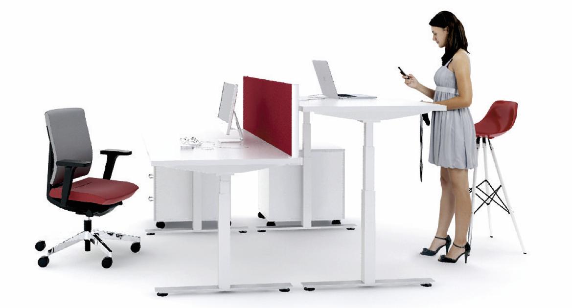 Biurka z regulowaną wysokością