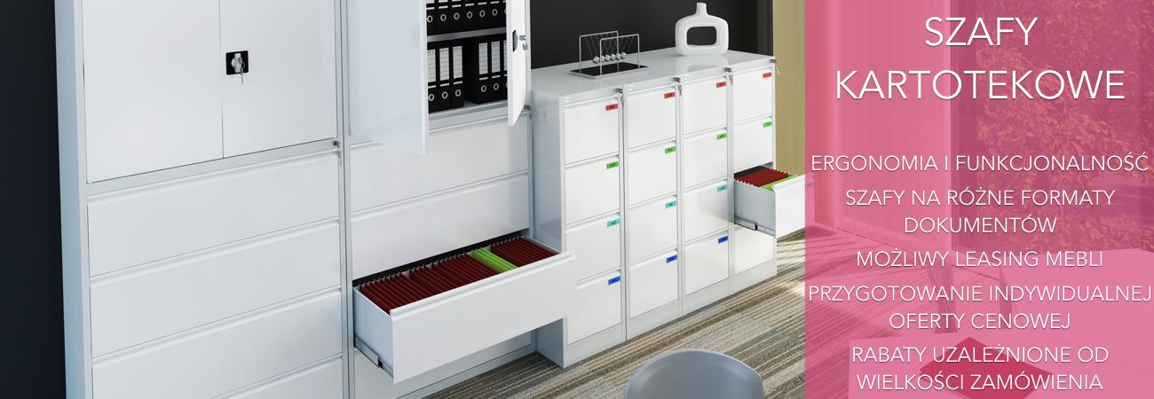 Szafy kartotekowe, szafy metalowe