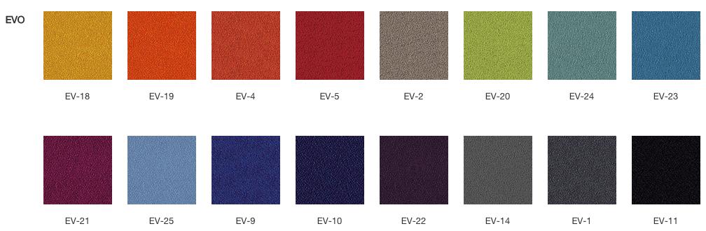 Wzornik kolorów. Fotele obrotowe Profim