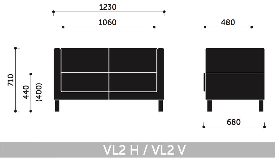 Wymiary fotela Vancouver Lite VL2 H