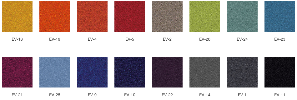 Fotel Vancouver Lite - wzornik kolorów EVO